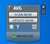 AVG2011Gadget thumb Uninstall AVG 2011 Gadget from Windows 7
