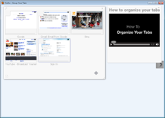 Firefox Panorama keyboard shortcut