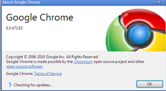 Google Chrome checking for updates