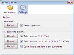 Secrets of Firefox enables defaultly disabled features in Fireofx 3.6