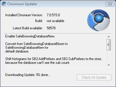 Update Chromium to latest version with Chromium Updater