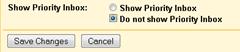 disabling Gmail Priority inbox