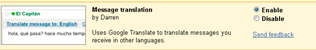 enable message translation in Gmail
