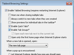 enable quick tabs in Internet Explorer 9