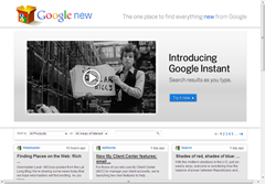 find what's new from Google with Google new