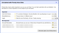 getting started with priority inbox