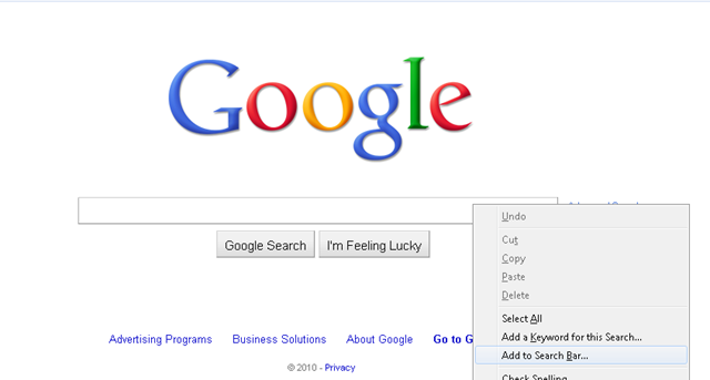 How To Make Google Instant As Default Search Engine In