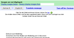 translate messages in Gmail easily with single click