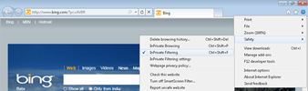 turn on InPrivate Filtering mode by default in IE9