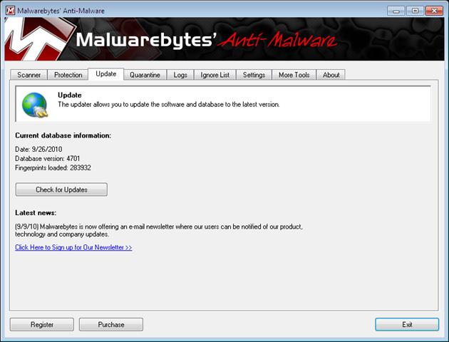 Download malwarebytes definition updates.