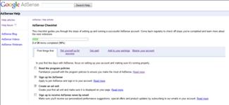 AdSense Checklist