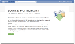 Download Your Information on Facebook