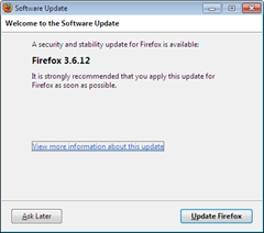 Firefox 3.6.12 security update released