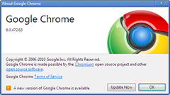 Google Chrome 7.0  stable version released