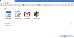 Google Chrome New Tab Page with Apps,Most Visited sections