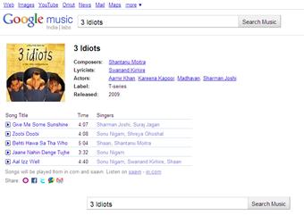 Google Music India labs