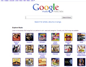 Google Music Search (India) labs