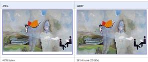 JPEG vs WebP