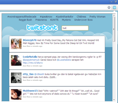 Twitstant ,instant twitter search extension for chrome