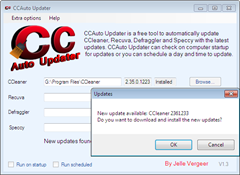 automatically update CCleaner with CCAuto Updater