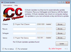 automatically update piriform products with CCAuto Updater