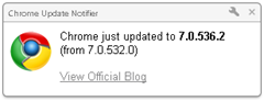 get notifed when Chrome updated with Chrome update notifier
