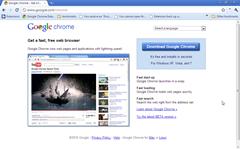google chrome in classic blue theme