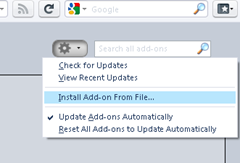 install add-on from File in Firefox 4