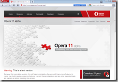 opera 11 alpha with extensions support