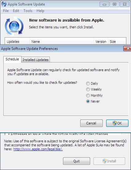 Utilisation d'apple software update pour windows assistance apple.