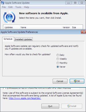 turn off update checking for safari in windows