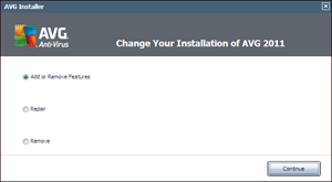 uninstalling AVG 2011 antivirus