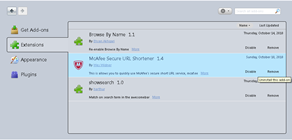 uninstalling add-ons in Firefox 4