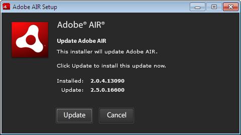 update adobe air windows 10