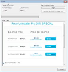 updating revo uninstaller to newer version