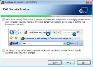 AVG Security Toolbar now with Google Search