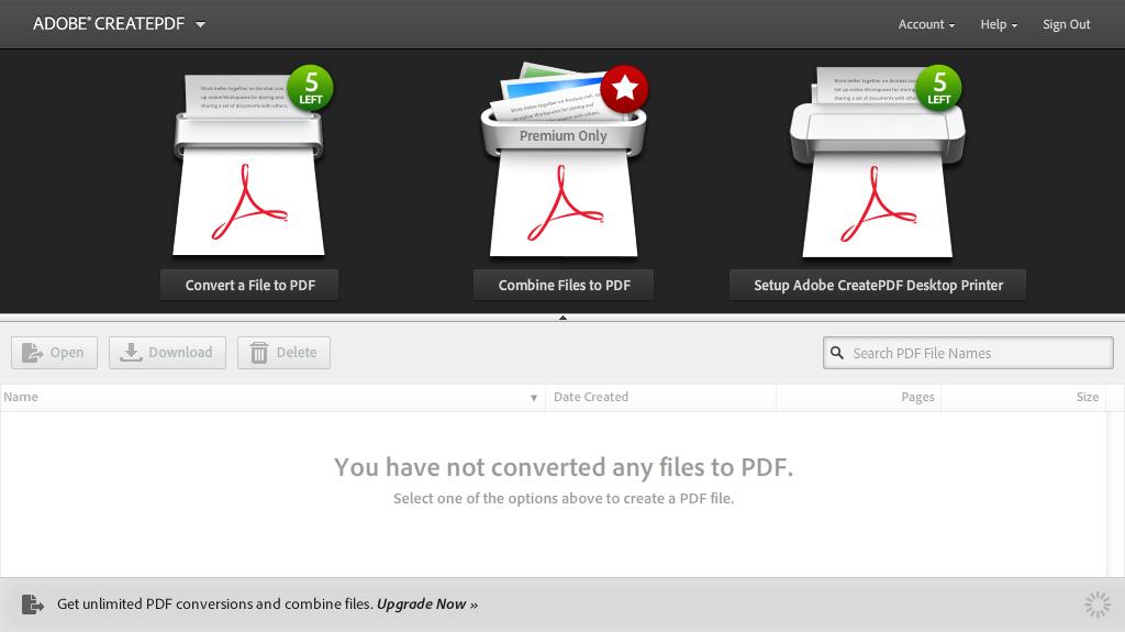 Online PDF converter convert from web or Acrobat Reader