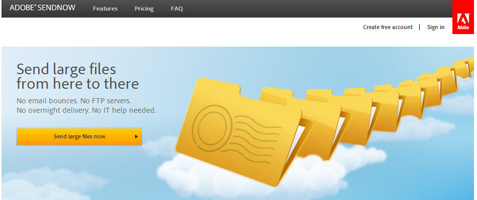 Adobe SendNow: Send, Receive, Download and Track Large Files