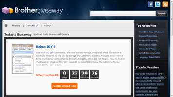 BrotherGiveAway thumb BrotherGiveAway from BrotherSoft is Like Giveaway of the Day Site
