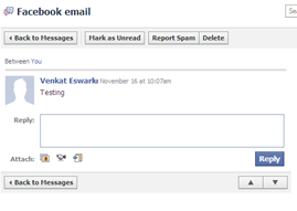 Facebook email invites