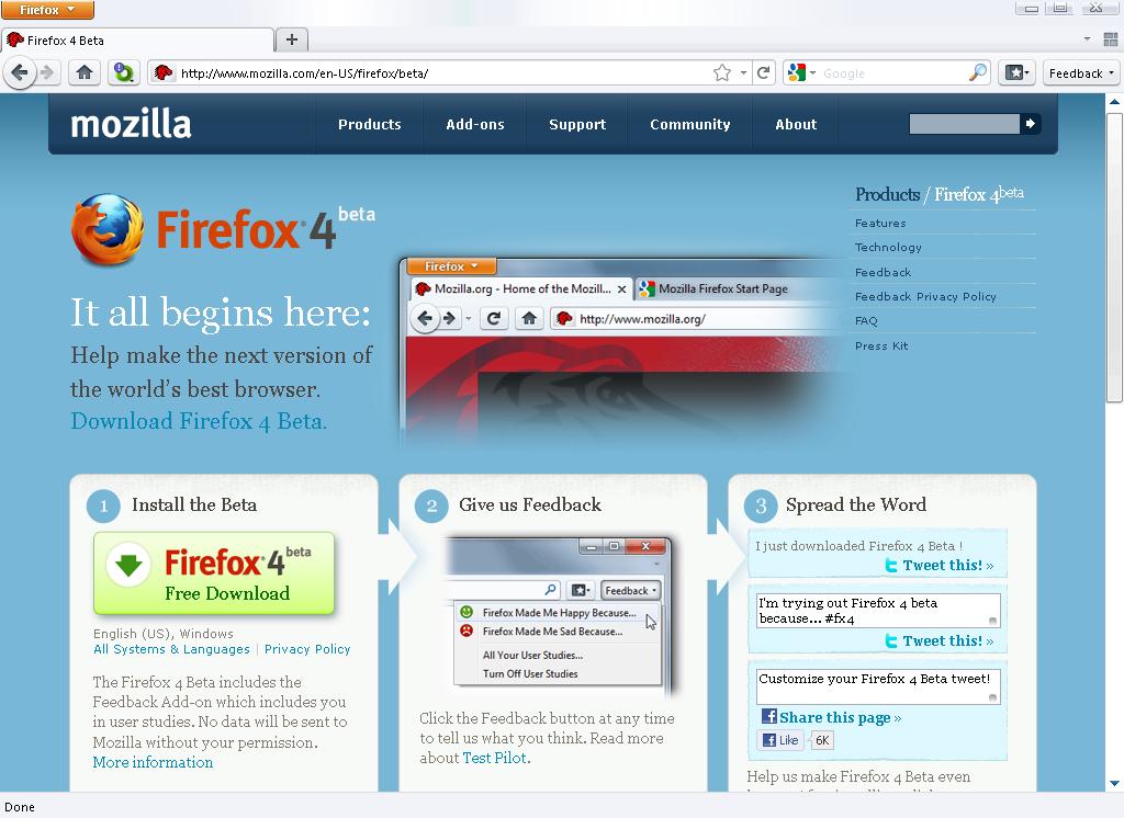 Firefox 4 0 Beta 7 Released, Download Now