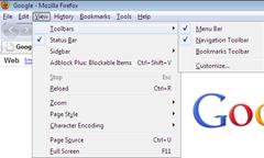 Firefox menu bar missing