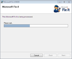 Microsoft Fix It tool for Microsoft Security Essentials