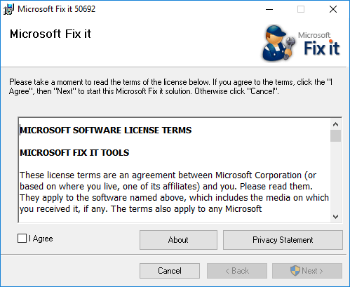 Microsoft Security Essentials fix it or removal tool