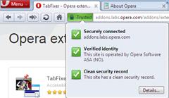 Opera's new safer address field
