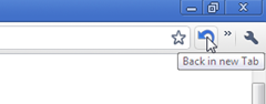Quickrr Back in new tab allows to visit previous page in new tab in Google Chrome