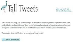Tall Tweets , twitter app