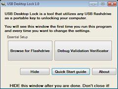 USB Desktop Lock