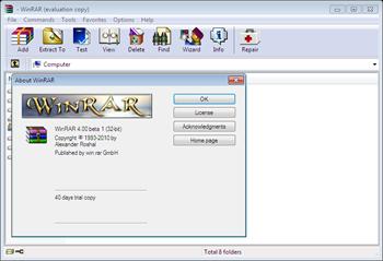 WinRAR 4.0 Beta 1