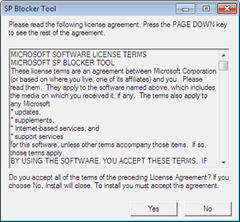 Windows 7 Service Pack1 blocker tool